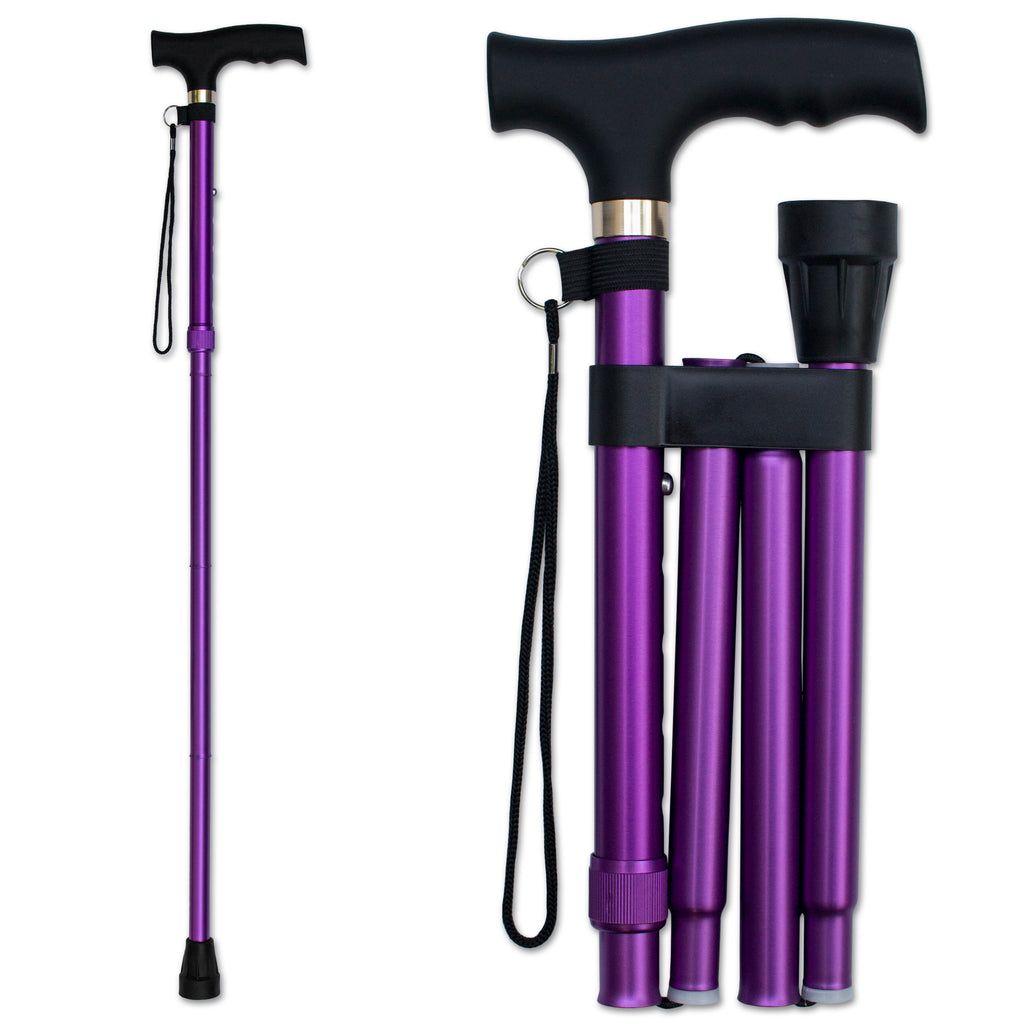 RMS - Lavender Folding Cane with Adjustable Height