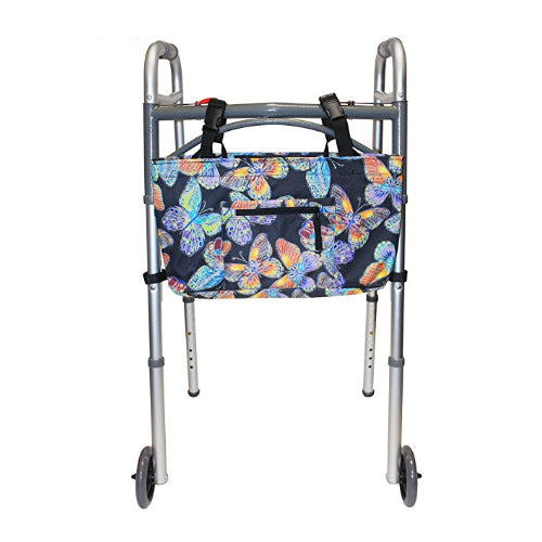 RMS Health - Vivid Butterfly Water Resistant Tote Bag for Walker, Rollator or Scooter