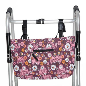Pinwheel Flower - Water Resistant Tote Bag for Walker, Rollator or Scooter