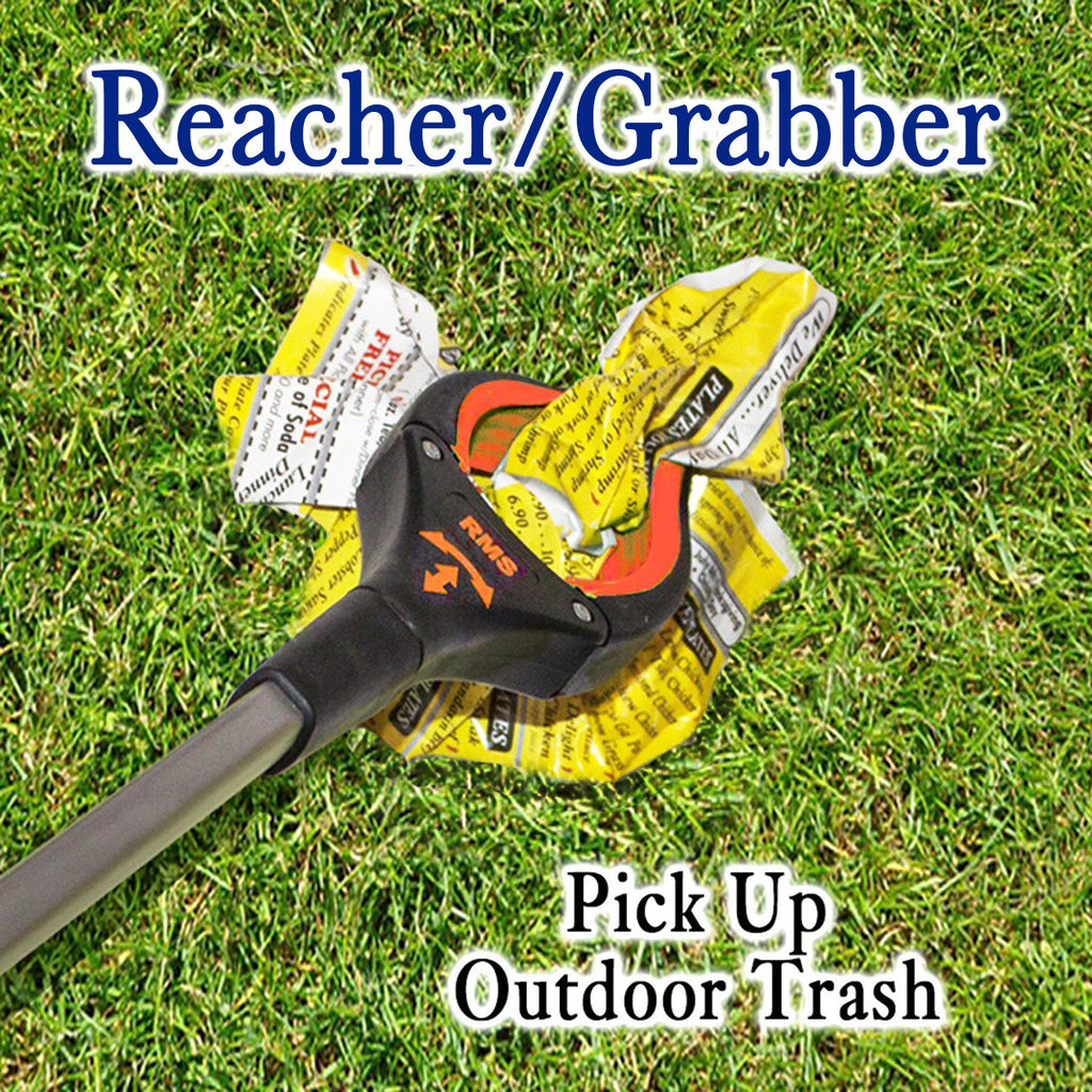 "RMS Health - 32"" Red Grabber Reacher with Rotating Head"