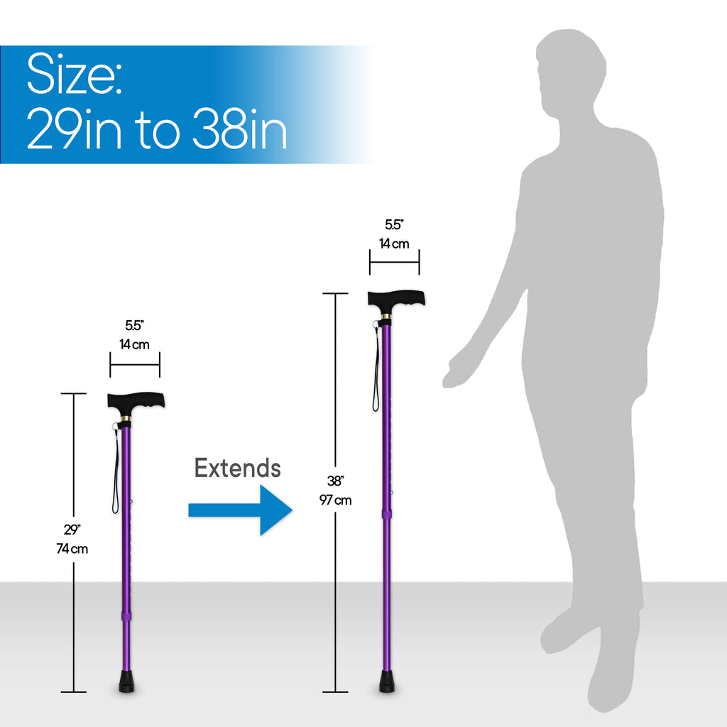 RMS Outdoors - Lavender Adjustable Walking Cane