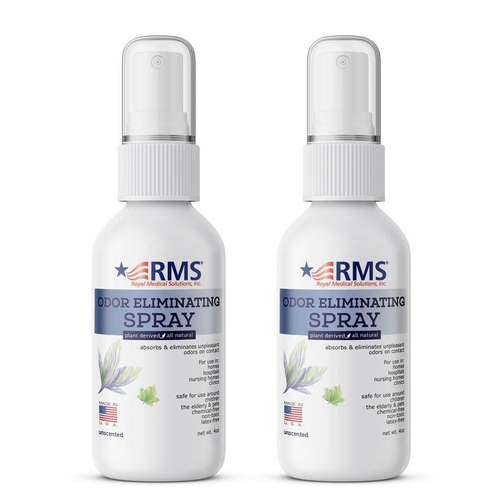 RMS - All Natural Plant Based Odor Eliminators (2-Pack) - Unscented 4 oz Spray