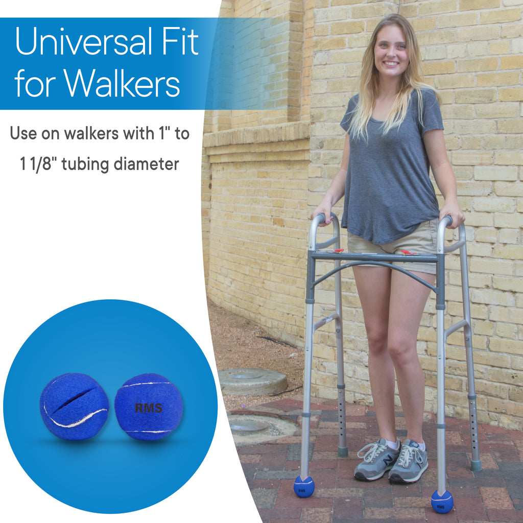 RMS Health - Blue Walker Glide Balls (4 pack)