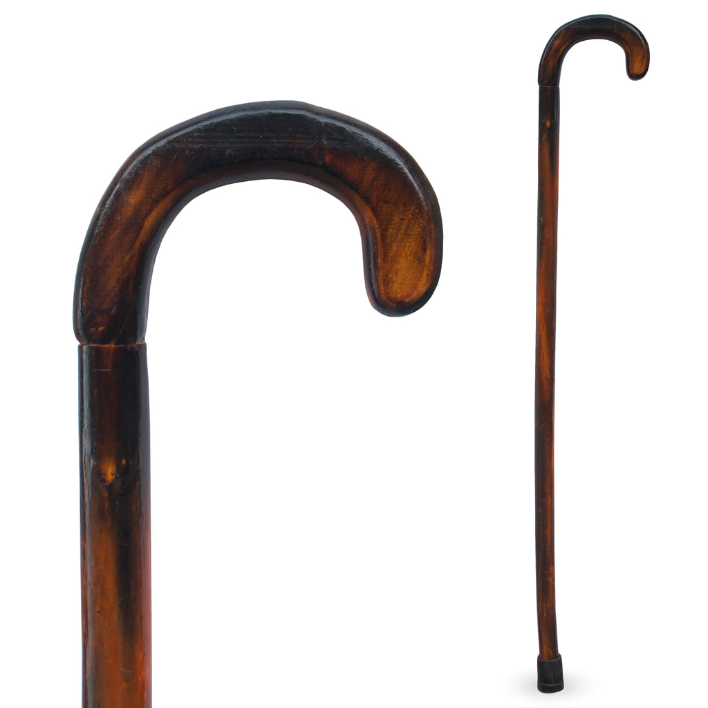 "RMS Outdoors -  36"" Natural Wood Walking Stick Round Handle"