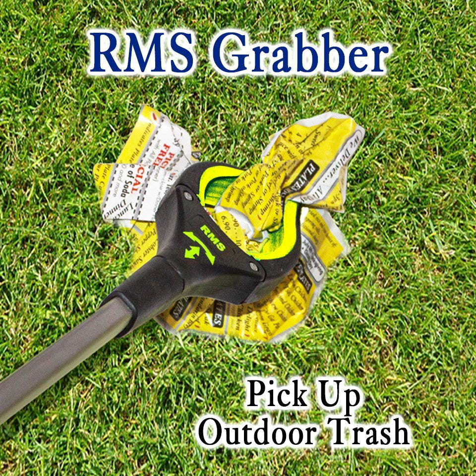 "RMS Health - 32"" Yellow Grabber Reacher with Rotating Head"