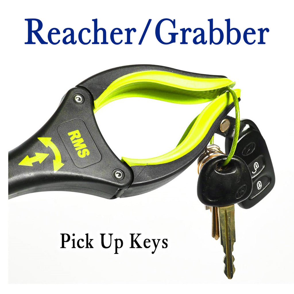 "RMS Health - 19"" Yellow Grabber Reacher with Rotating Gripper"