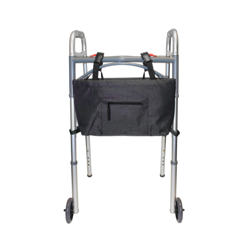 Black - Water Resistant Tote Bag for Walker, Rollator or Scooter
