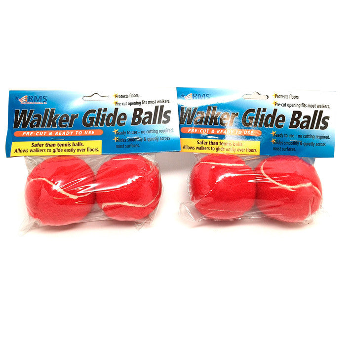 Red - Walker Glide Balls (4 pack)