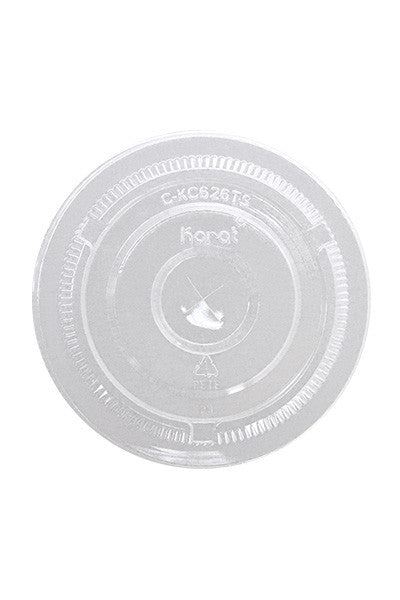 Eco Flat Lids for 12-24oz Clear Plastic PET Cups