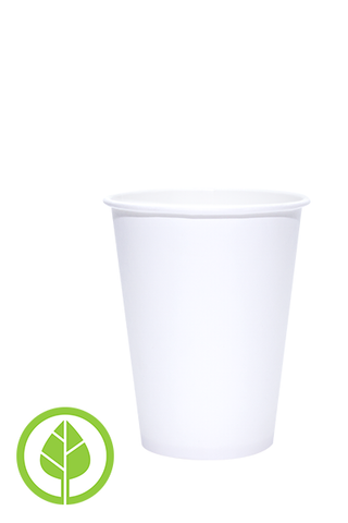 12oz Printed Eco-Friendly PLA-Lined Hot Cups - 250 pieces