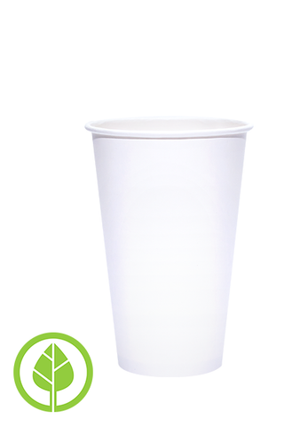16oz Printed Eco-Friendly PLA-Lined Hot Cups - 500 pieces