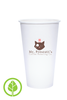 20oz Printed Eco-Friendly PLA-Lined Hot Cups - 600 pieces