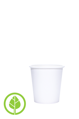 4oz Printed Eco-Friendly PLA-Lined Hot Cups - 500 pieces