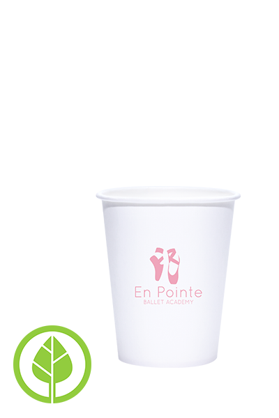 8oz Printed Eco-Friendly PLA-Lined Hots Cup - 1000 pieces