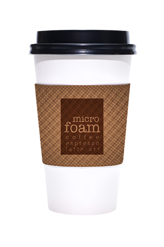 Printed Kraft Coffee Sleeves - 1000 pieces