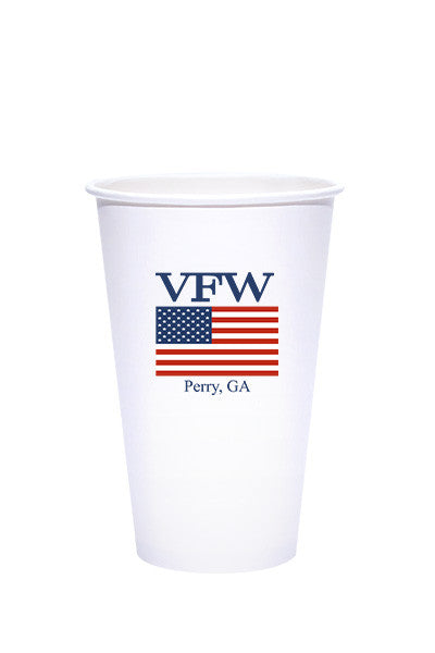 16oz Printed White Paper Cold Cups - 250 pieces