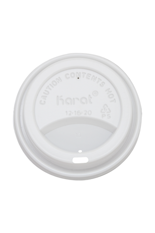 White Sipper Dome Lids for 12-20oz Paper Hot Cups