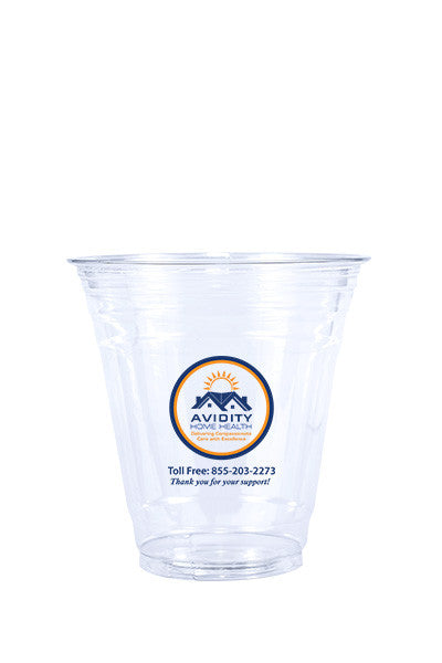 12oz Printed Clear Plastic PET Cup - 500 pieces