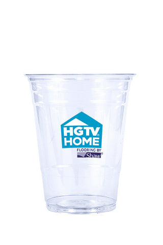 16oz Printed Clear Plastic PET Cup - 250 pieces