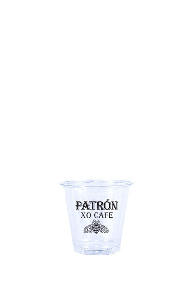3oz Printed Clear Plastic PET Cup - 250 pieces
