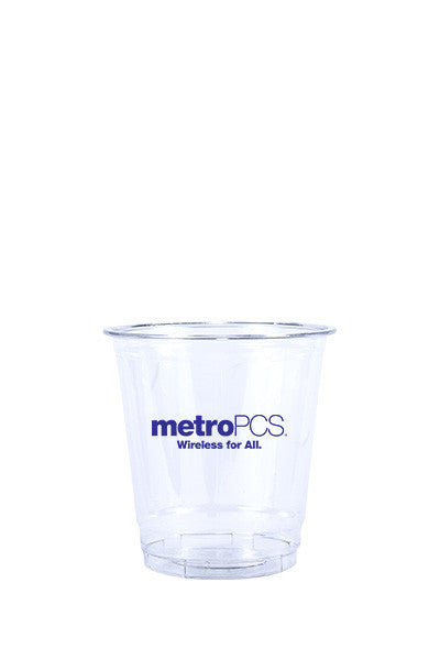 8oz Printed Clear Plastic PET Cup - 250 piece