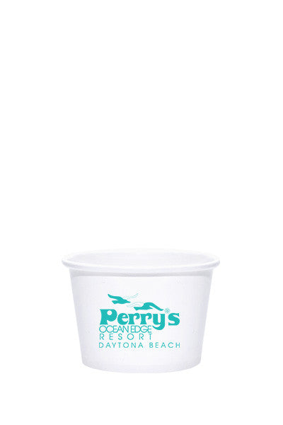 8oz Printed White Paper Food Container - 1000 pieces