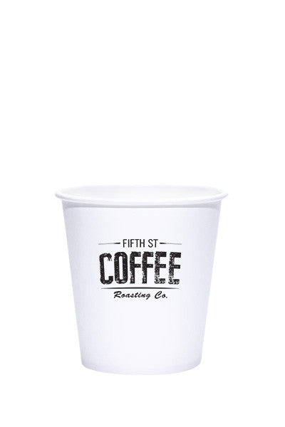 10oz Printed White Paper Hot Cups - 250 pieces