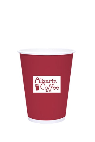 12oz Printed White Paper Hot Cups - 250 pieces