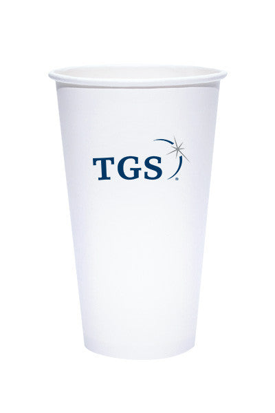 20oz Printed  White Paper Hot Cups - 250 pieces