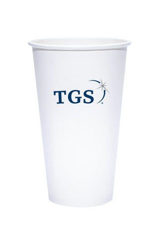 20oz Printed  White Paper Hot Cups - 500 pieces