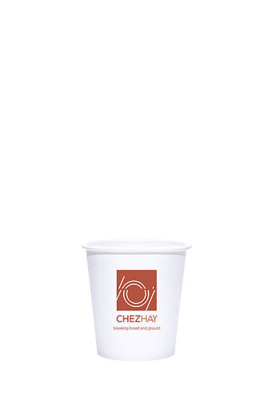 4oz Printed White Paper Hot Cups - 250 pieces