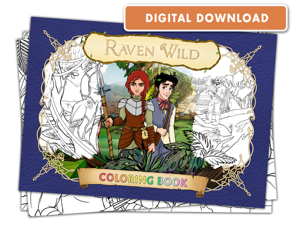 Raven Wild: Coloring Book