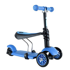 Yvolution Y Glider 3-in-1 Scooter in Blue