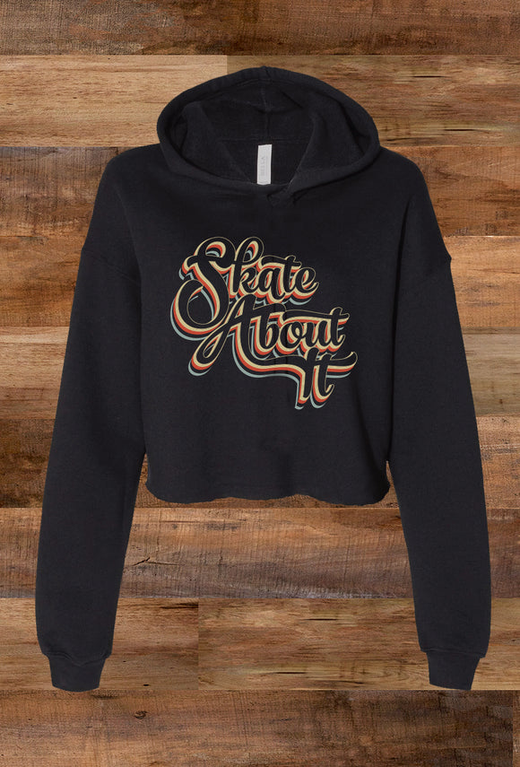 SALE! Skate About It Crop Fleece Hoodie