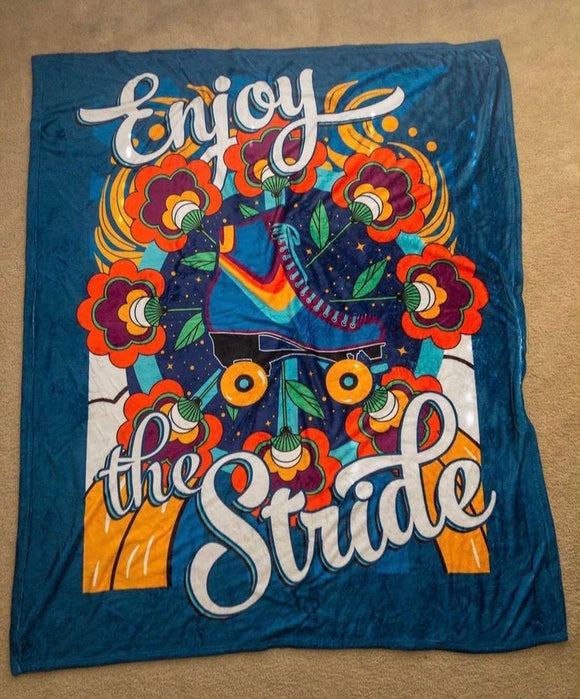 Enjoy the Stride Throw Blanket