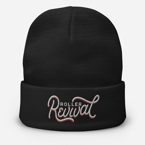 Roller Revival Embroidered Beanie