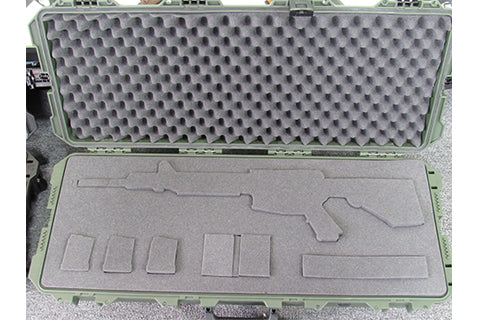 Pelican Case 1700 custom cutout for ar15 glock and clips
