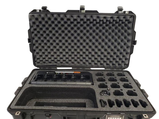 Pelican Case 1650 with Custom Foam Insert for Motorola CP200 Walkie Talkie Radio and Charger