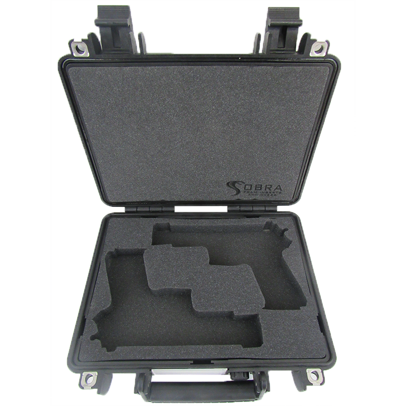Pelican Case 1400 Custom Foam Insert for 2 Handguns and Magazines-Cobra Foam Inserts and Cases
