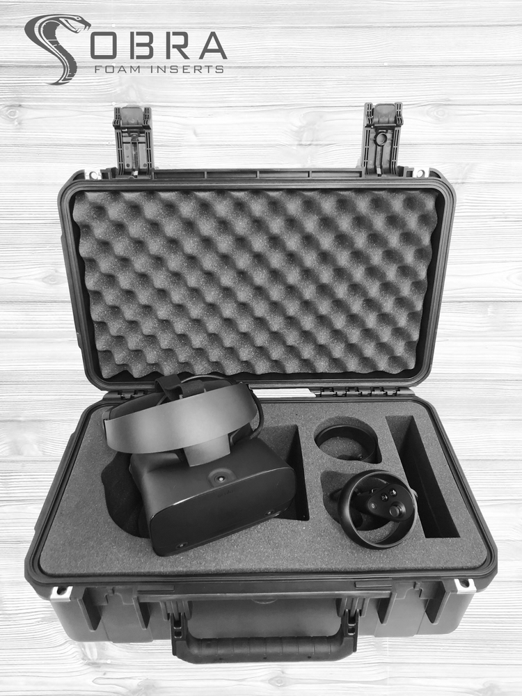 Pelican Air Case 1535 Foam Insert For Oculus Rift S - Carry-On (FOAM ONLY)-Cobra Foam Inserts and Cases