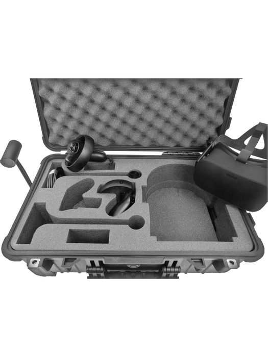 Pelican Case 1510 Custom Foam Insert for Oculus Rift (2 Sensors) - Carry-On with Wheels (Foam