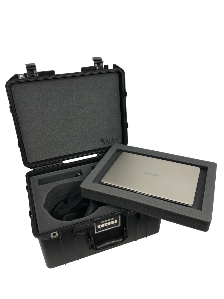 Pelican Air Case 1557 Foam Insert For Oculus Rift S & Laptop (FOAM ONLY)-Cobra Foam Inserts and Cases