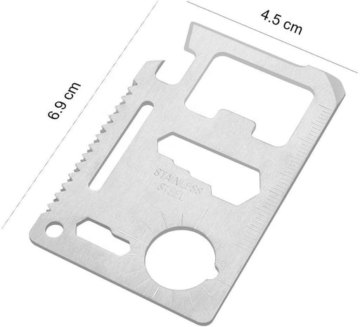 Outdoor 18 in 1 Bottle Opener Credit Card Survival Multitool Multi-function Card Tool