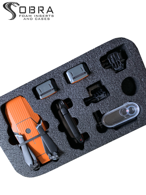 Backpack Foam Insert for DJI Mavic Drone and Go Pro (FOAM ONLY)-Cobra Foam Inserts and Cases