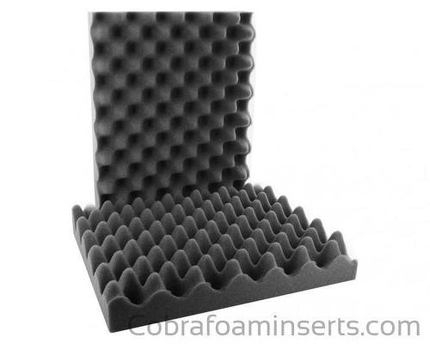 "Convoluted Foam Insert Set (2 Pieces) 36 x 10 x 2"" Thick-Pelican-Cobra Foam Inserts"