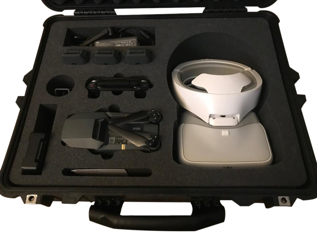 Pelican Case 1600 Foam Insert for DJI Goggles and Mavic Drone (Foam ONLY)