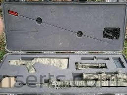 MK12 SPR Rifle Foam Insert for Pelican case 1700 (Polyethylene)-Pelican-Cobra Foam Inserts