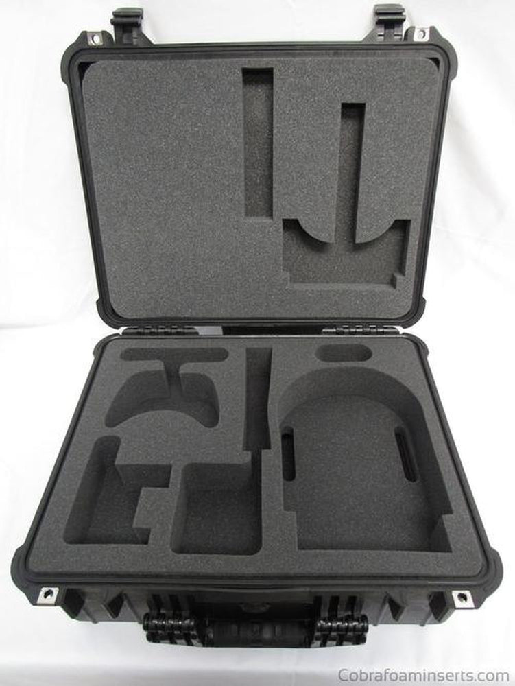 Precut - Oculus Rift VR System Custom Foam Insert For Pelican Case 1550 (FOAM ONLY)