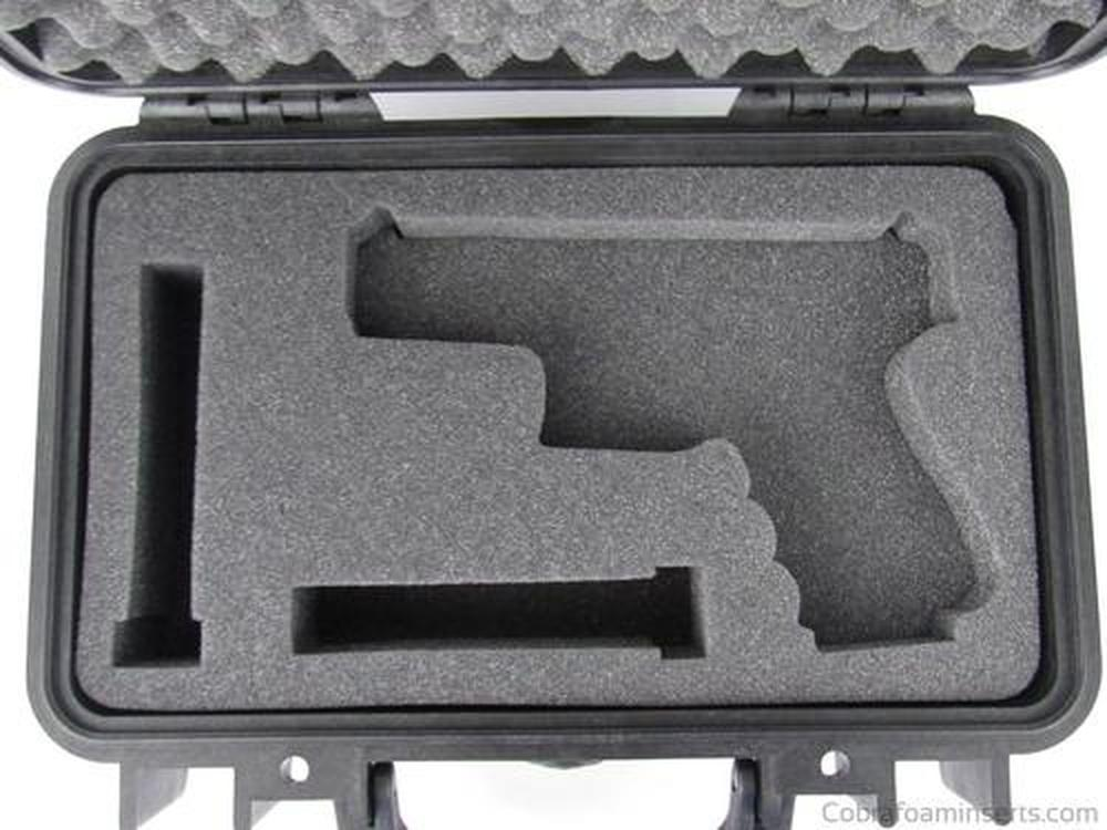Precut - Pelican Case 1170 Custom Foam Insert For Glock 23 Handgun And 2 Magazines (Foam Only)