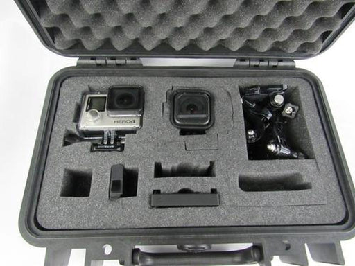 Pelican Case 1170 Custom Foam Insert for GoPro Hero 4, Hero Session and Accessories (Foam Only with Blue Background)-Pelican-Cobra Foam Inserts